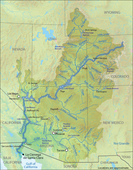 Colorado Karte Fluss.Sharing The Colorado River And The Rio Grande Cooperation