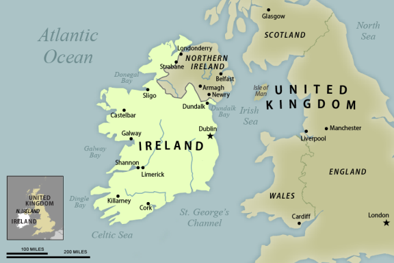 Republic Of Ireland And Northern Ireland Map.Northern Ireland Current Issues And Ongoing Challenges In The Peace