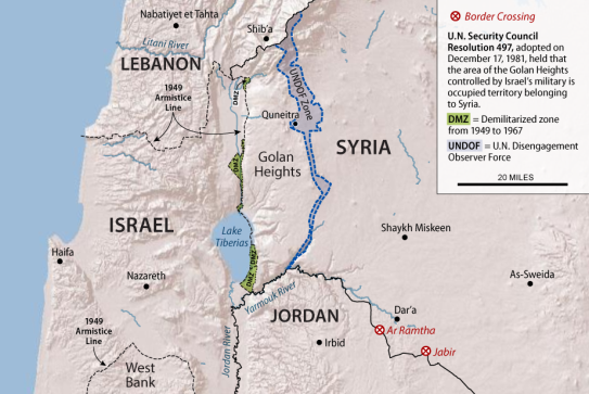 Israel and Syria in the Golan Heights: U S  Recognition of