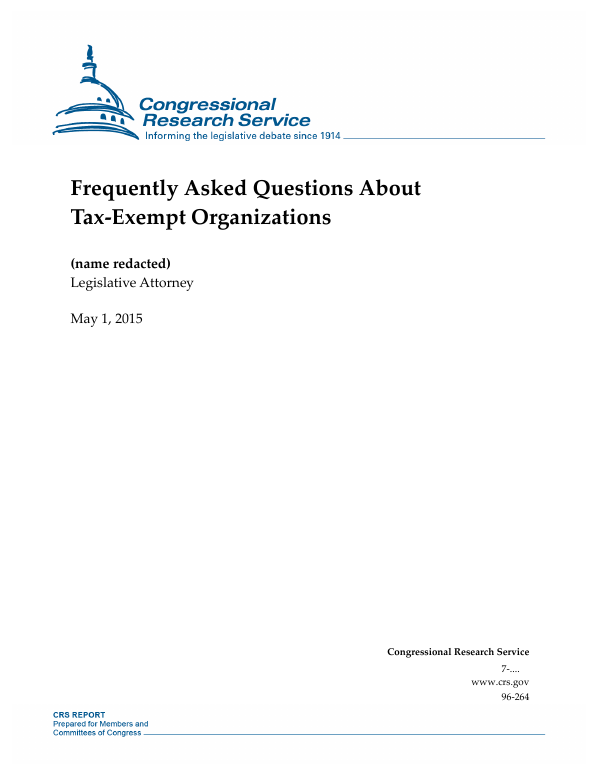 Frequently Asked Questions About Tax Exempt Organizations