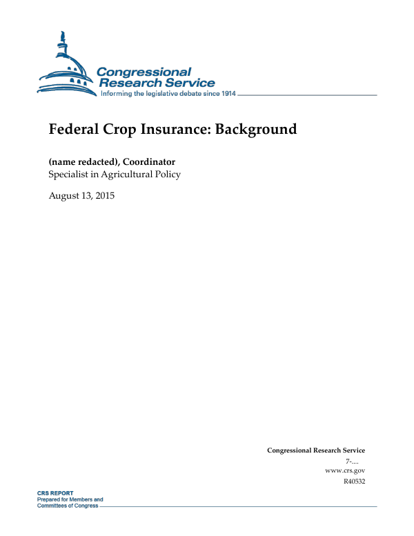 Federal Crop Insurance: Background - EveryCRSReport com
