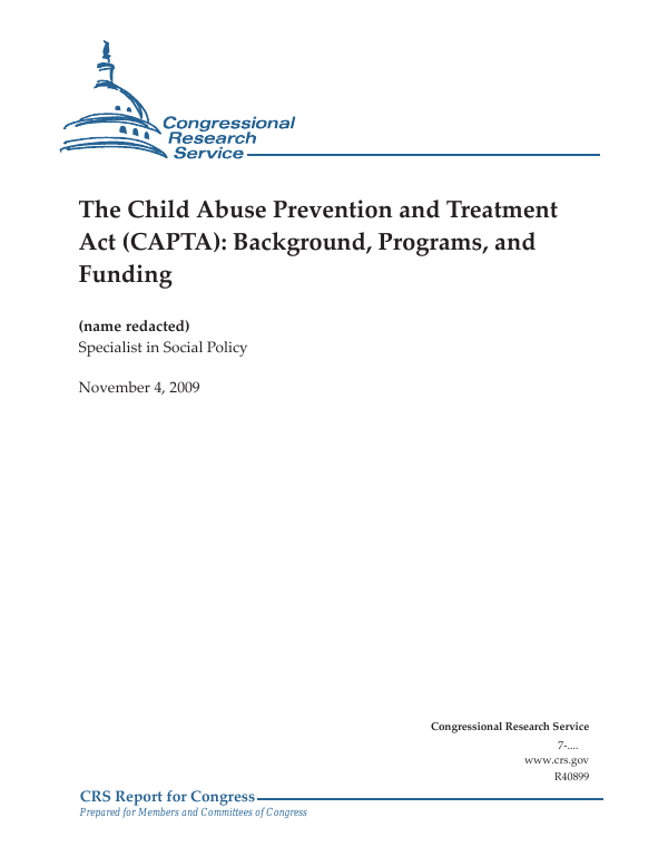 The Child Abuse Prevention and Treatment Act (CAPTA