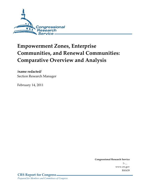 Empowerment Zones, Enterprise Communities, and Renewal