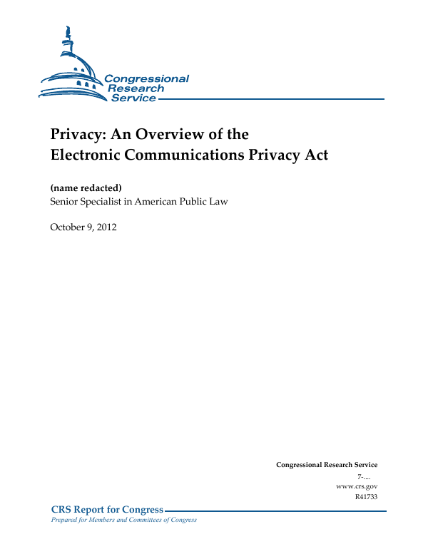 Privacy: An Overview of the Electronic Communications