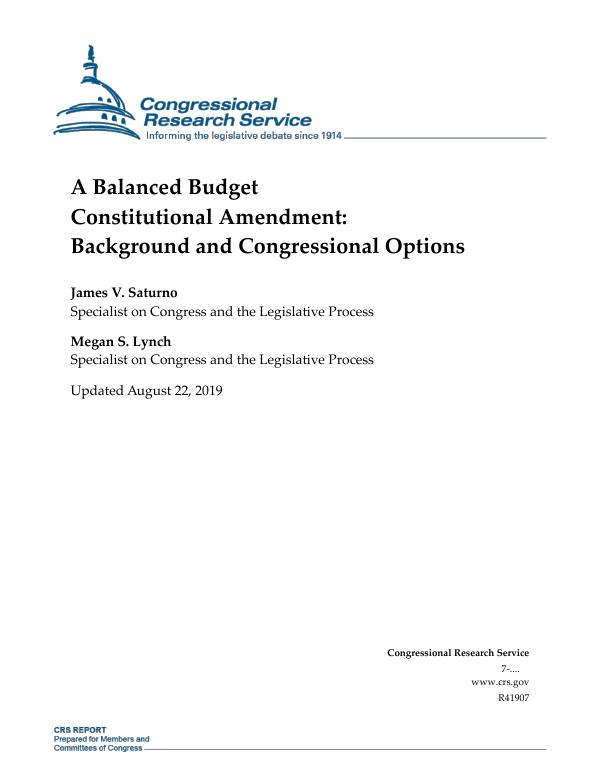 Alex Tabarrok: The Virtues of an Unbalanced-Budget Amendment