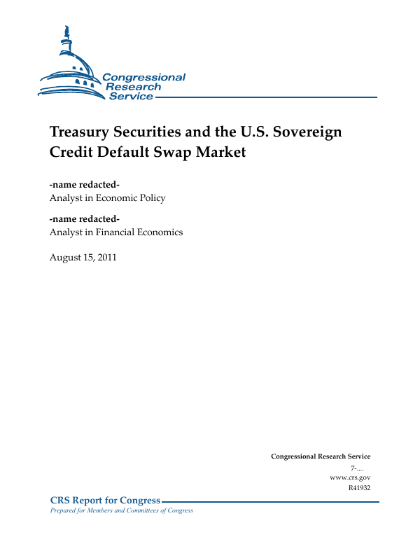 treasury securities and the u s sovereign credit default swap