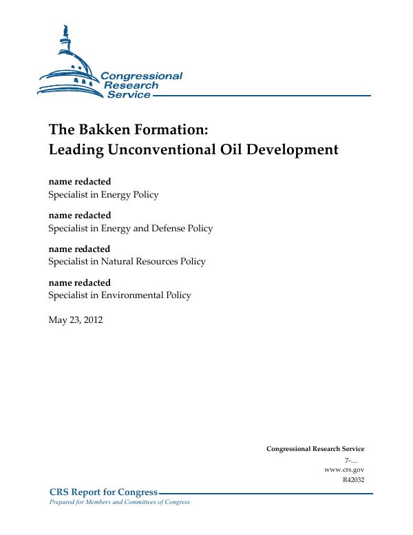 The Bakken Formation: Leading Unconventional Oil Development