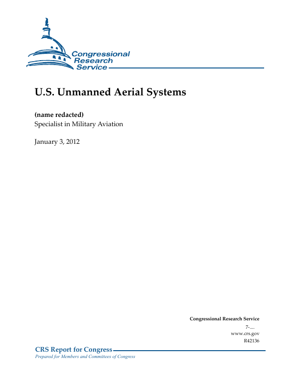 U S  Unmanned Aerial Systems - EveryCRSReport com