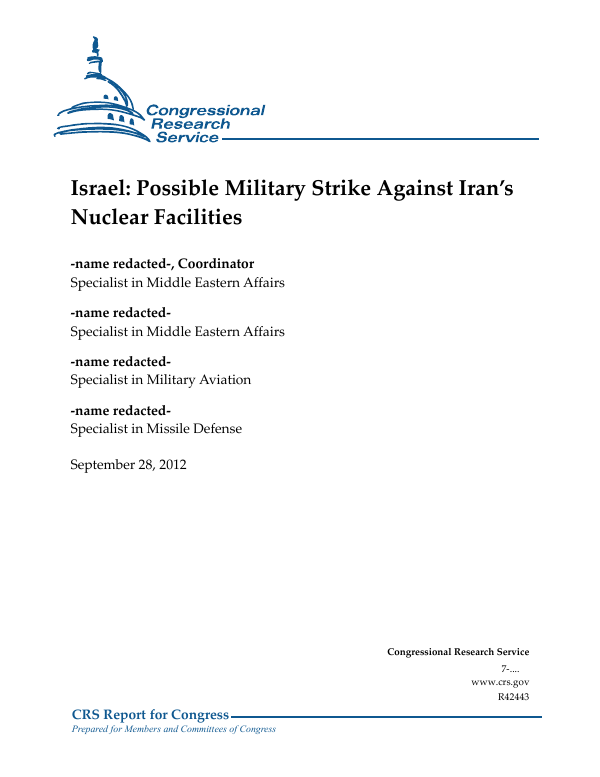 State Journal Gives More Ink To Iran >> Israel Possible Military Strike Against Iran S Nuclear Facilities