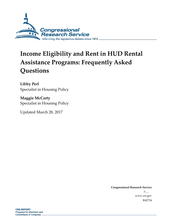 Income Eligibility and Rent in HUD Rental Assistance