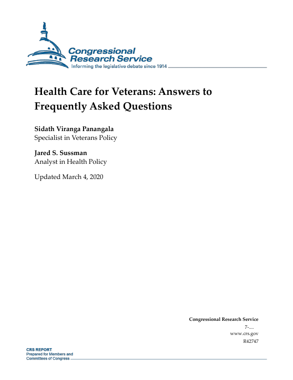 Health Care for Veterans: Answers to Frequently Asked Questions ...