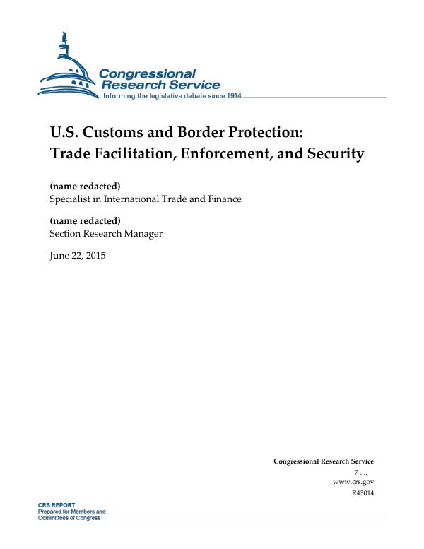 U S  Customs and Border Protection: Trade Facilitation