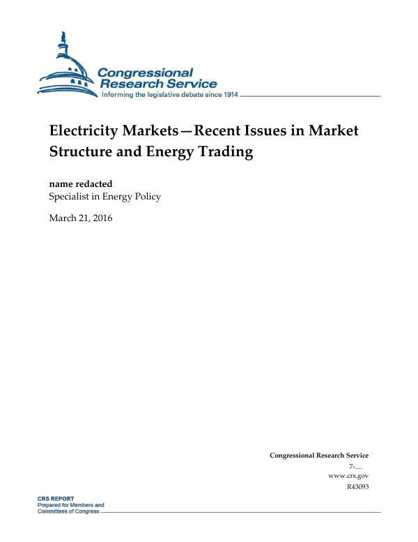 Electricity marketsrecent issues in market structure and energy electricity marketsrecent issues in market structure and energy trading everycrsreport sciox Images
