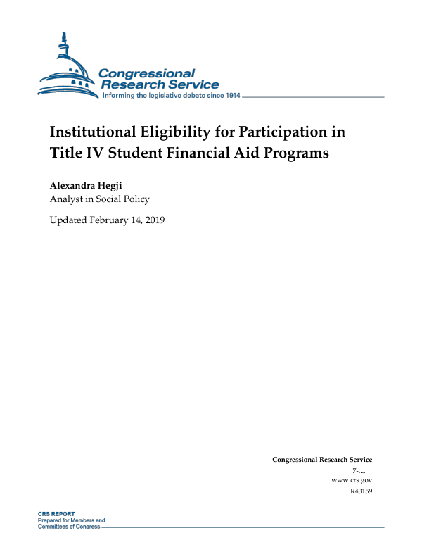 Institutional Eligibility for Participation in Title IV Student