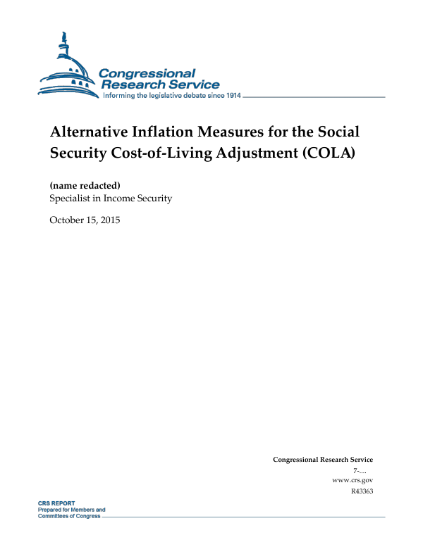 Inflation-Indexing Elements in Federal Entitlement Programs