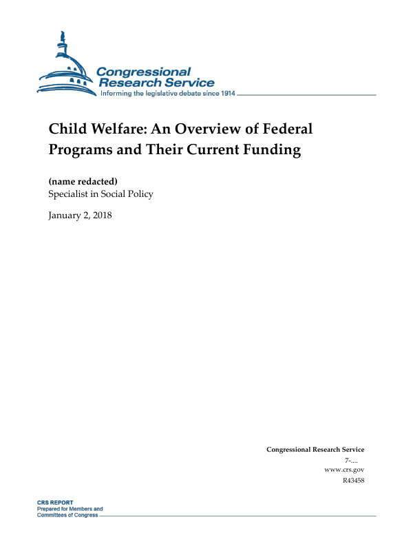 Child Welfare: An Overview of Federal Programs and Their