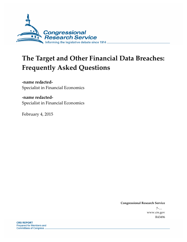 The Target and Other Financial Data Breaches: Frequently Asked