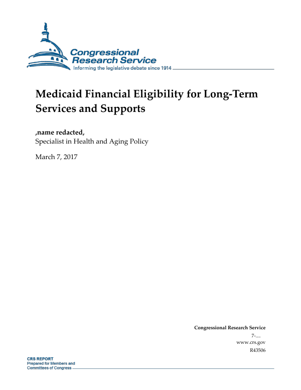Letter Of Financial Support For Medicaid from www.everycrsreport.com