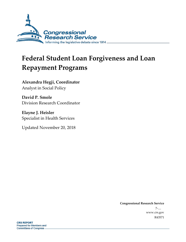 Federal student loan forgiveness and loan repayment programs federal student loan forgiveness and loan repayment programs everycrsreport thecheapjerseys Image collections
