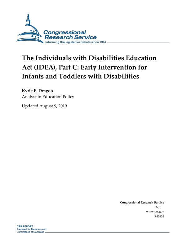 The Individuals with Disabilities Education Act (IDEA), Part