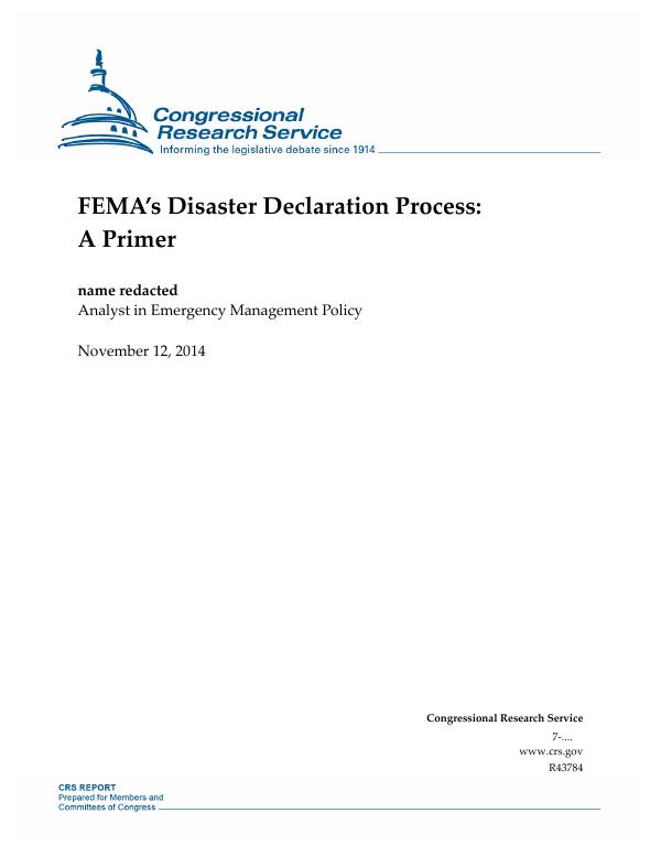 FEMA's Disaster Declaration Process: A Primer - EveryCRSReport com