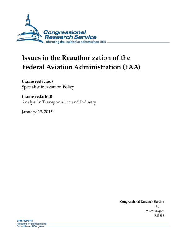 issues in the reauthorization of the federal aviation administration rh everycrsreport com Overhaul Manual for Lycoming O-540-A1b5 Repair Manuals