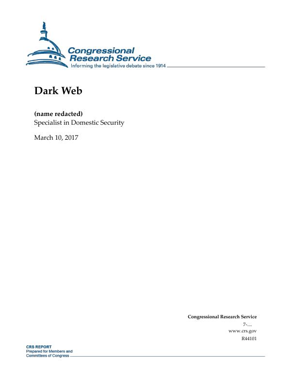 Dark Web - EveryCRSReport com
