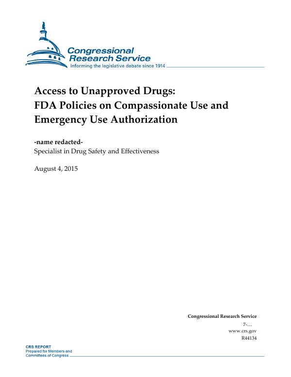 Access to Unapproved Drugs: FDA Policies on Compassionate