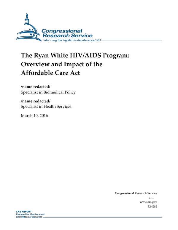 The Ryan White HIV/AIDS Program: Overview and Impact of the ...