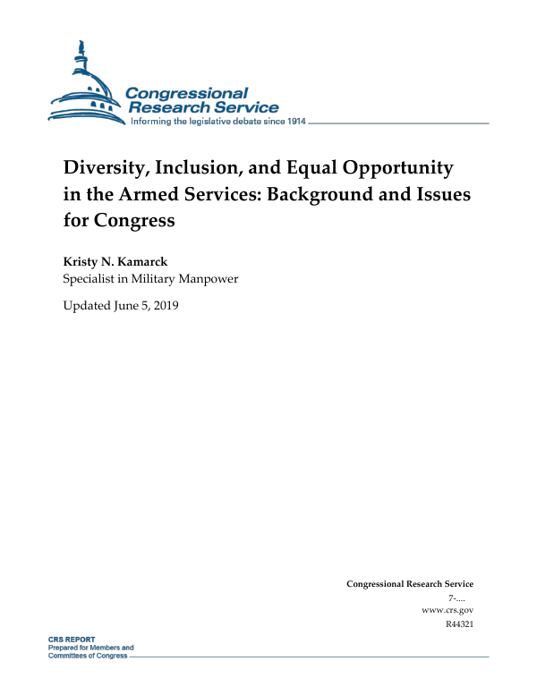 Diversity Inclusion And Equal Opportunity In The Armed Services