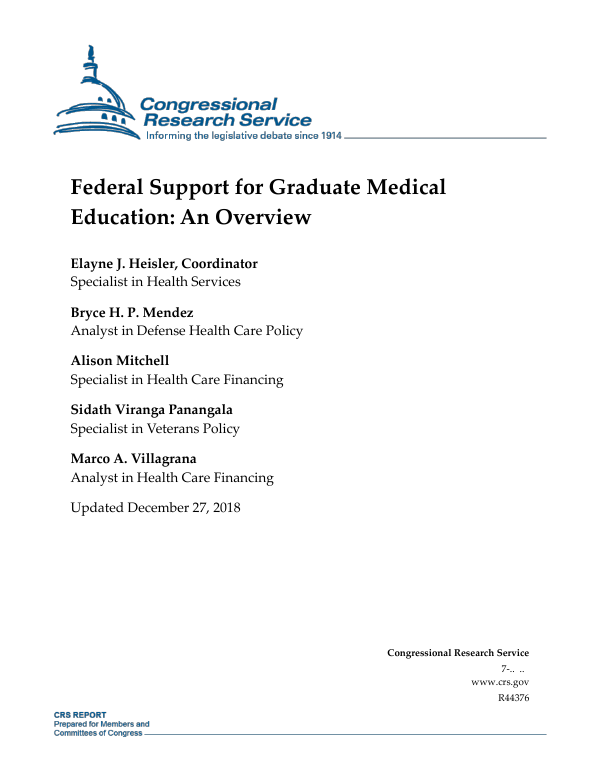 Federal Support for Graduate Medical Education: An Overview