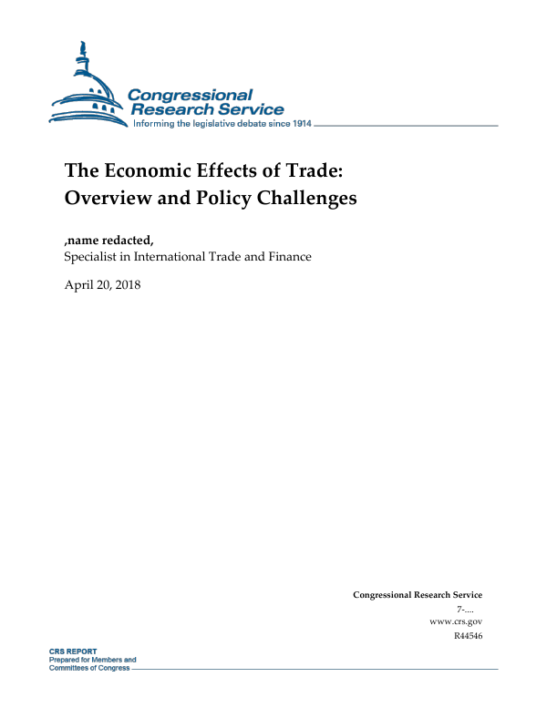 ea787dd18d0ac8 The Economic Effects of Trade  Overview and Policy Challenges -  EveryCRSReport.com