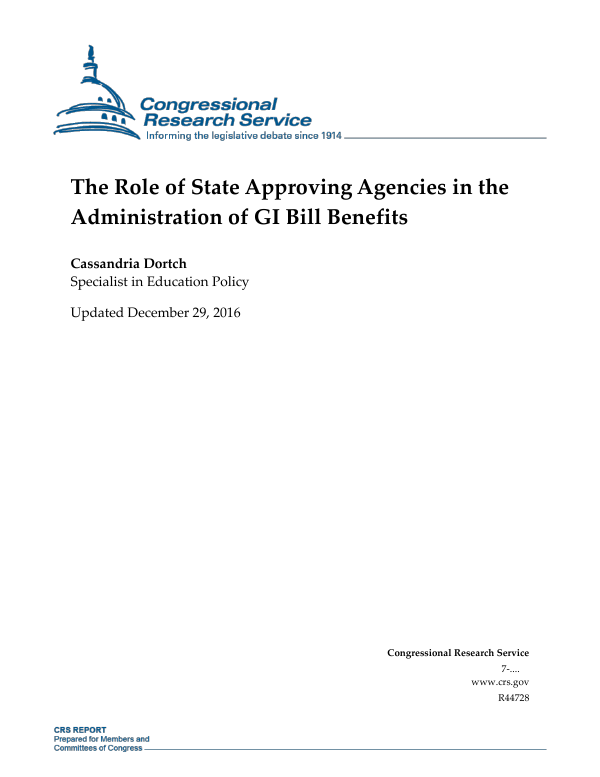 The Role Of State Approving Agencies In The Administration Of Gi