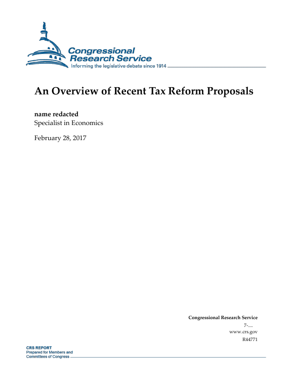 An overview of recent tax reform proposals everycrsreport malvernweather Images