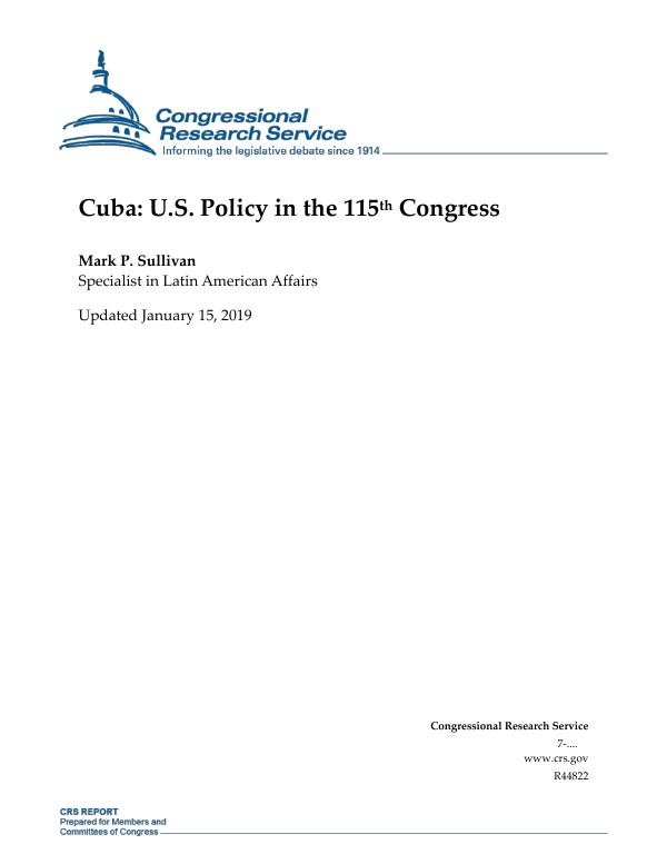 Cuba us policy in the 115th congress everycrsreport publicscrutiny Gallery