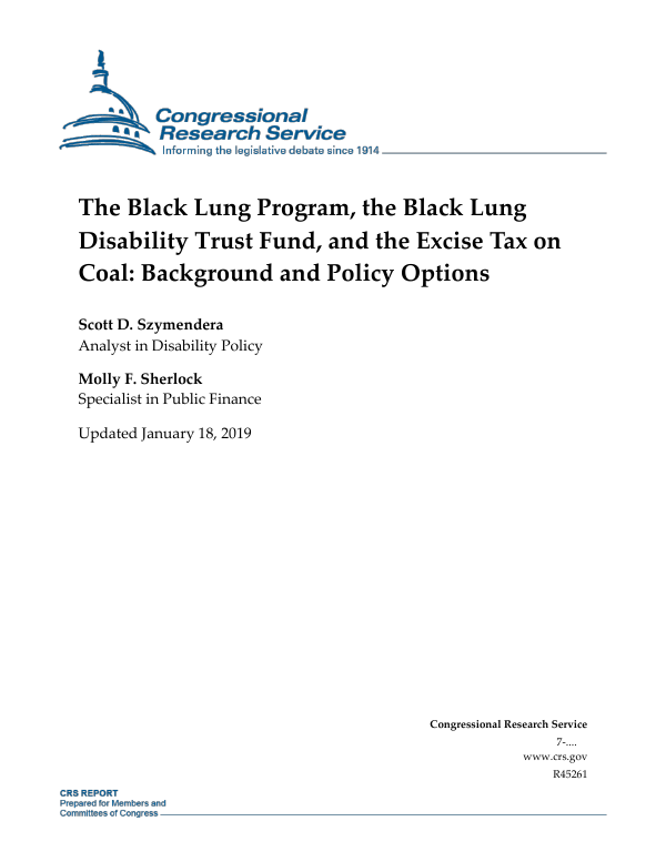 The Black Lung Program, the Black Lung Disability Trust Fund