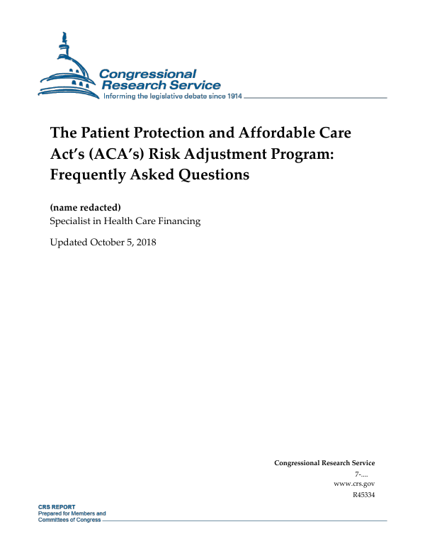 The Patient Protection and Affordable Care Act's (ACA's