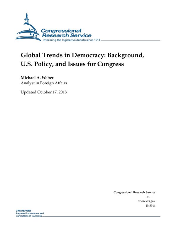 Global Trends In Democracy: Background, U.S. Policy, And Issues For  Congress - EveryCRSReport.com