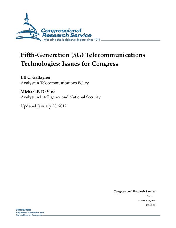 Fifth-Generation (5G) Telecommunications Technologies: Issues for