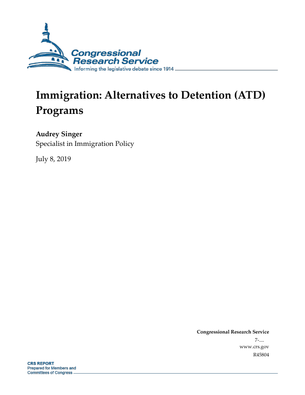 Immigration: Alternatives to Detention (ATD) Programs
