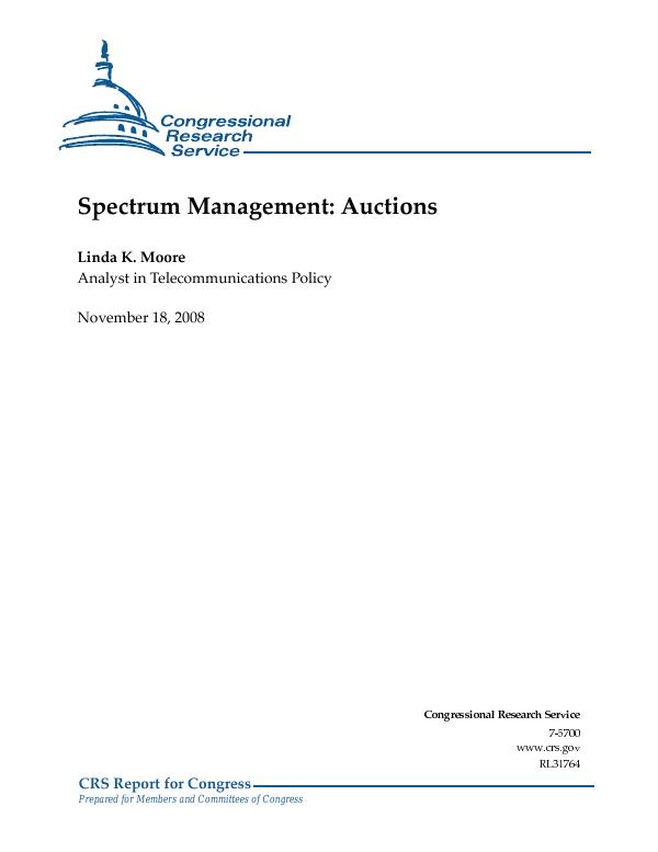 Spectrum Management Auctions Everycrsreport Com