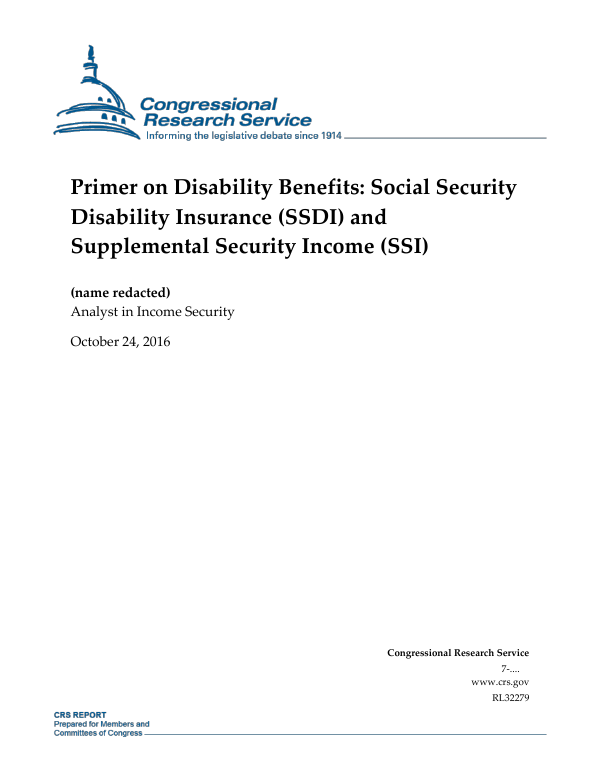 Primer on Disability Benefits: Social Security Disability ...