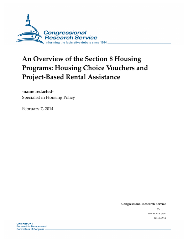 An Overview of the Section 8 Housing Programs: Housing ...