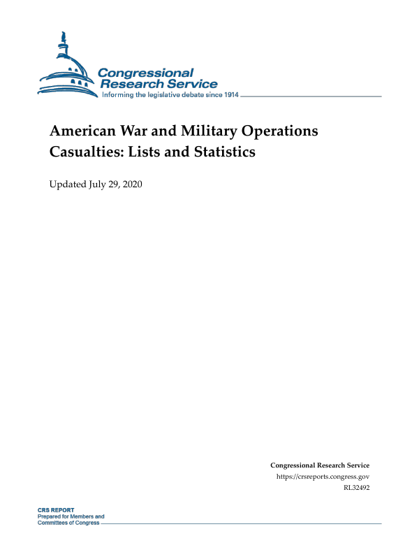 American War and Military Operations Casualties: Lists and
