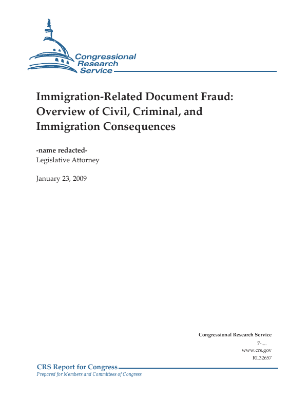Immigration-Related Document Fraud: Overview of Civil