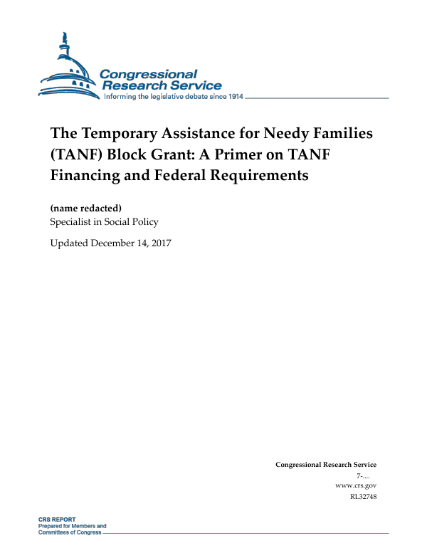 The Temporary Assistance for Needy Families (TANF) Block