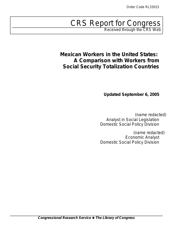 Mexican Workers In The United States A Comparison With Workers From