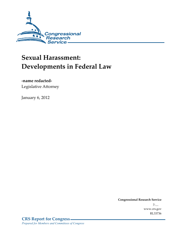 Sexual Harassment: Developments in Federal Law