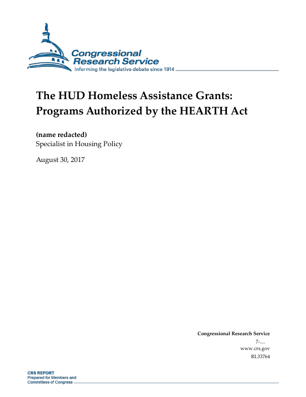 The Hud Homeless Assistance Grants Programs Authorized By The