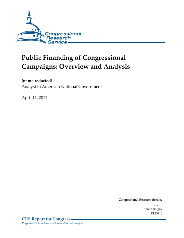 As Chip Funding Nears Expiration Study >> Public Financing Of Congressional Campaigns Overview And Analysis